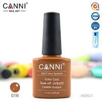 Гель лак Canni 016 пастельный коричневый