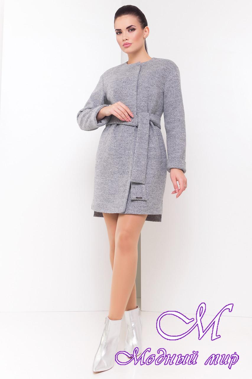 Демисезонное женское пальто с поясом (р. S, M, L) арт. Китос 16924