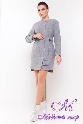 Демисезонное женское пальто с поясом (р. S, M, L) арт. Китос 16924, фото 2