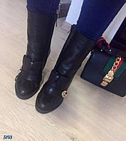 Ботинки демисезон Guccii кожа натуральная кожа декор бахрома, каблук 11 см
