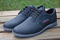 Мужские кожаные туфли кроссовки  Ecco экко  синие  40, 41, 42, 43, 44, 45