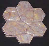 Формы для тротуарной плитки «Каменный цветок» глянцевые пластиковые АБС ABS, фото 1