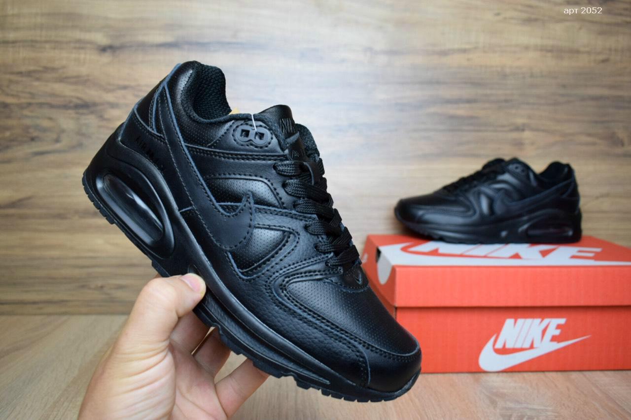 9e083017dc4b Подростковые и мужские городские кроссовки Air аирмакс полностью черные -  nikestep.com.ua в