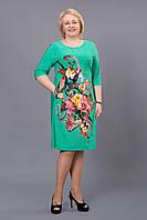 Летнее яркое платье Колибри больших размеров, р 54-60