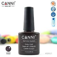 Гель лак Canni 022 черно-коричневый