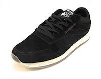 Кроссовки мужские Reebok Classic Leather замшевые черные (рибок)( р.41,42,46)
