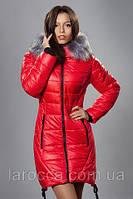 Зимняя женская молодежная куртка. К-62-12-16. Цвет красный.