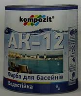 Композит краска для бассейнов АК-12 Голубая 10 кг