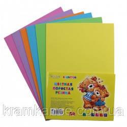 Набор цветной пористой резины TUKZAR TZ-10137 2мм 6 листов 6 цветов, фото 2