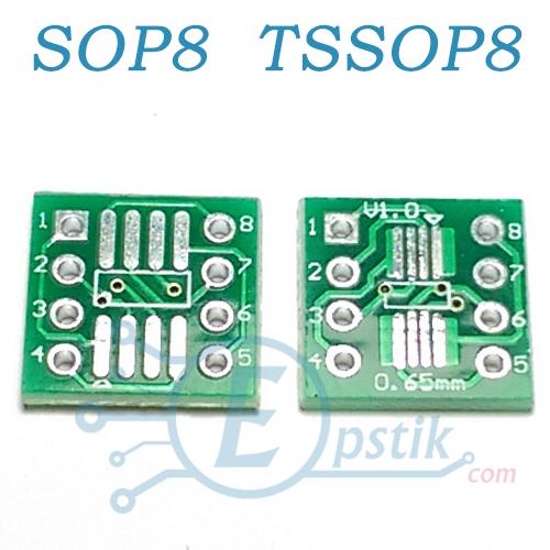 Переходник, адаптер для микросхем SO8, SOP8, MSOP8, SOIC8,TSSOP8 в DIP8