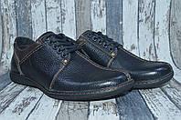 Мужские кожаные туфли, натуральная кожа, полу-спорт Viva Вива