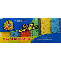 Губки кухонні COLOR 5+1 шт
