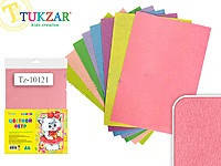 Набор цветного фетра TUKZAR TZ-10121 1 мм 8 листов 8 цветов, фото 2
