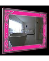 Зеркало с цветной подсветкой в алюминиевой раме(80х60см) ГКРС3