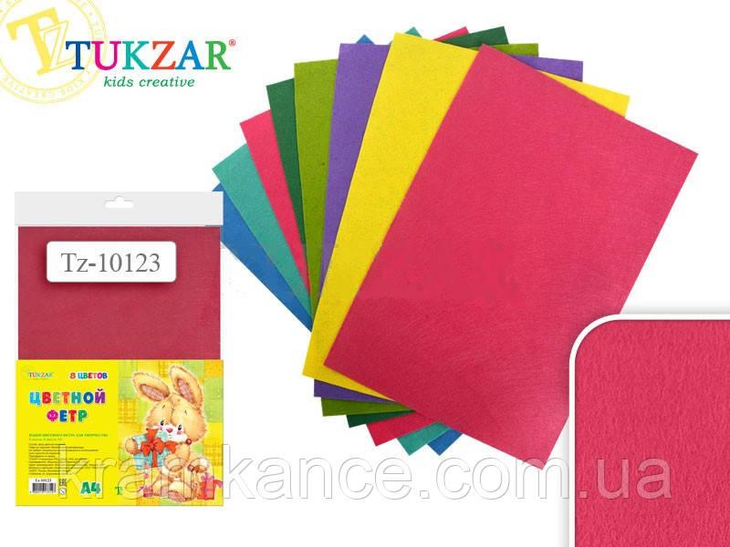 Набор цветного фетра TUKZAR TZ-10123 1 мм 8 листов 8 цветов