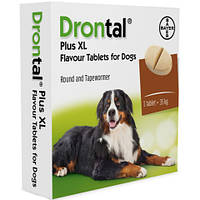 Дронтал плюс со вкусом мяса для крупных собак XL (2 таблетки)