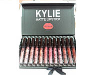 Набір матових помад KYLIE (Кайлі) matte lipstick 12в1, чорно-білий