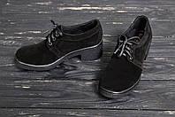 Женские туфли из замша на каблуке 5 см
