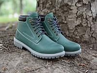 """Мужские кожаные ботинки """"Форестер"""" зелёные"""