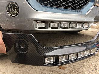 Карбоновая докладка переднего бампера Brabus для Mercedes G-class W463