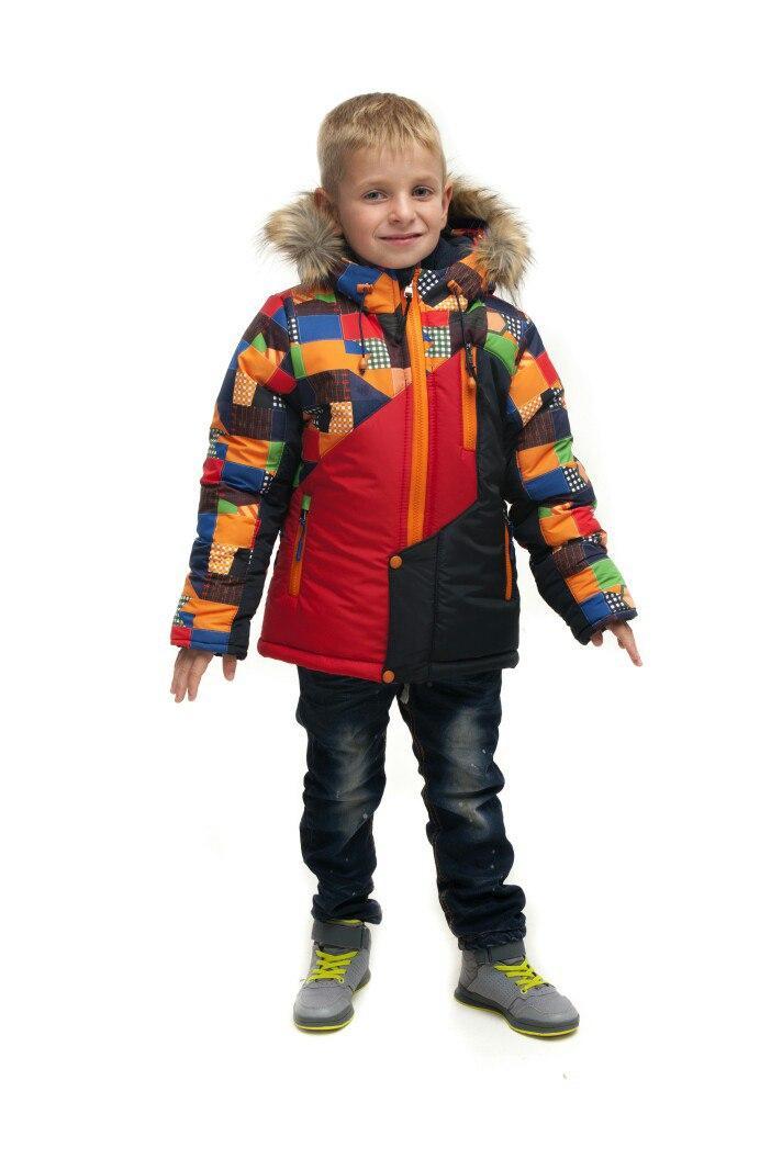 Зимняя куртка для мальчика на флисе Turbo