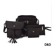 Набор женских сумок черный, фото 1