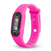 Фитнес браслет часы шагомер счетчик калорий II Pink