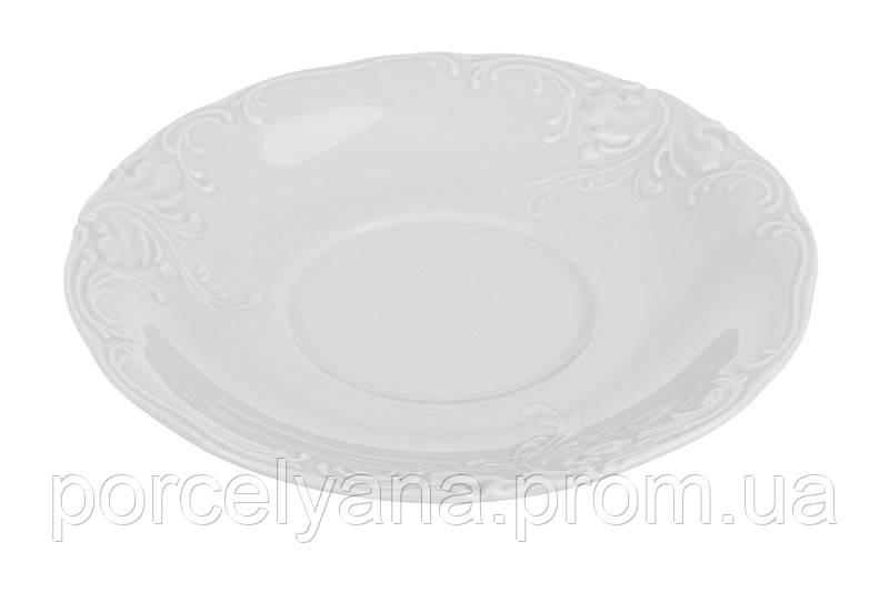Блюдце фарфоровое 140мм Fryderyka для чашки и бульонницы