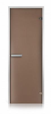 Двери для хамама Intercom (матовая бронза 70х190)