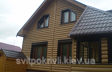 Металлический сайдинг (Блок-Хаус) бревно, фото 2
