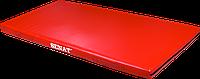 Мат детский гимнастический 1х2, кожзам, красный, 1376-red