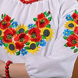 Женская вышиванка Летний букет (рукав 3/4), фото 5