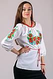 Женская сорочка вышиванка Васильок (рукав 3/4), фото 2