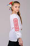 Вышиванка для девочки Орнамент (красный), фото 4