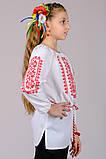 Вышиванка для девочки Орнамент (красный), фото 6