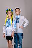Вышиванка для девочки Орнамент (голубой), фото 3