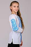 Вышиванка для девочки Орнамент (голубой), фото 6