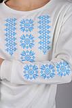 Трикотажная блузка-вышиванка (нежно-голубой орнамент), фото 5