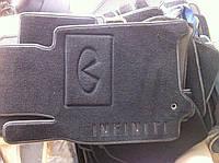 Коврики в салон Infiniti G-25 2010- (материал Вена РA 5 OL черный 3D) (5шт/комп.)