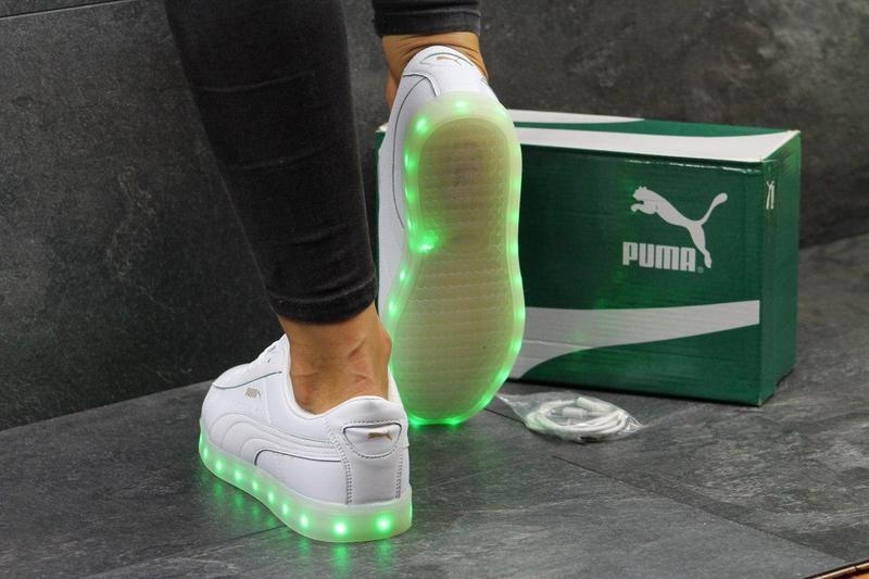 Жіночі кеди Puma з LED підсвіткою білі 774b12e0c1d2e