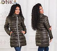 Стильная женская куртка с поясом