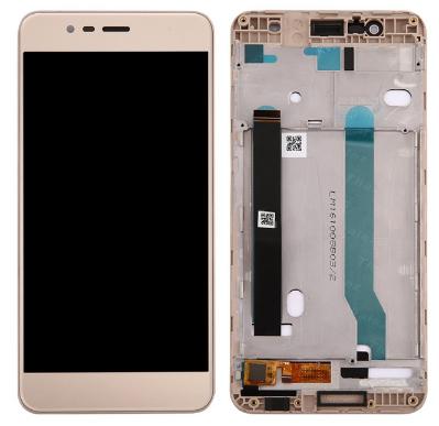Дисплей (экран) для Asus ZenFone 3 Max (ZC520TL) 5,2 с сенсором (тачскрином) и рамкой золотистый