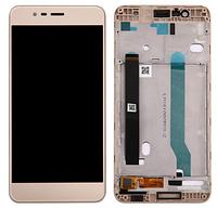 Дисплей (экран) для Asus ZenFone 3 Max (ZC520TL) 5,2 + с сенсором (тачскрином) и рамкой золотистый Оригинал