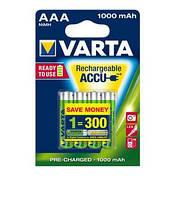 Аккумулятор varta rechargeable accu aaa 1000mah bli 4 ni-mh ready 2 use