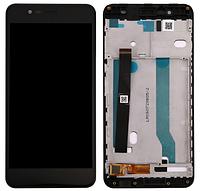 Дисплей (экран) для Asus ZenFone 3 Max (ZC520TL) 5,2 + с сенсором (тачскрином) и рамкой черный Оригинал