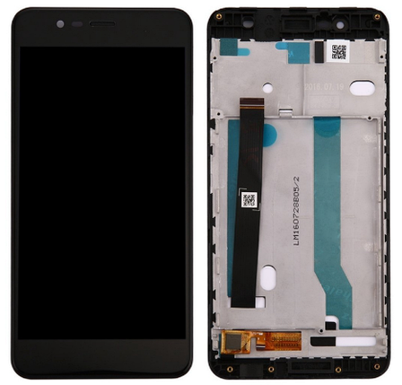 Дисплей (экран) для Asus ZenFone 3 Max (ZC520TL) 5,2 X008D з сенсором (тачскріном) и рамкой черный, фото 2