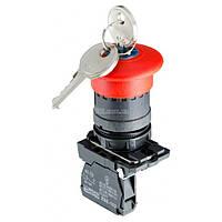 Кнопка «грибок» с фиксацией (1НЗ, возврат ключом) TB5-AS142, АСКО-УКРЕМ, A0140010162