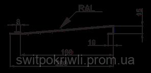 Металлический сайдинг (блок-хаус) одинарная доска, фото 2
