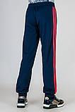 Спортивные штаны подростковые с яркими лампасами, фото 3