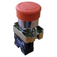 Кнопка «грибок» с фиксацией (1НЗ, возврат поворотом) XB2-BS442, АСКО-УКРЕМ, A0140010082